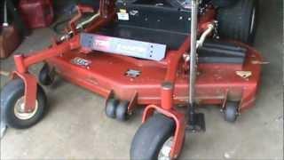 How to take blades off zero turn mowers