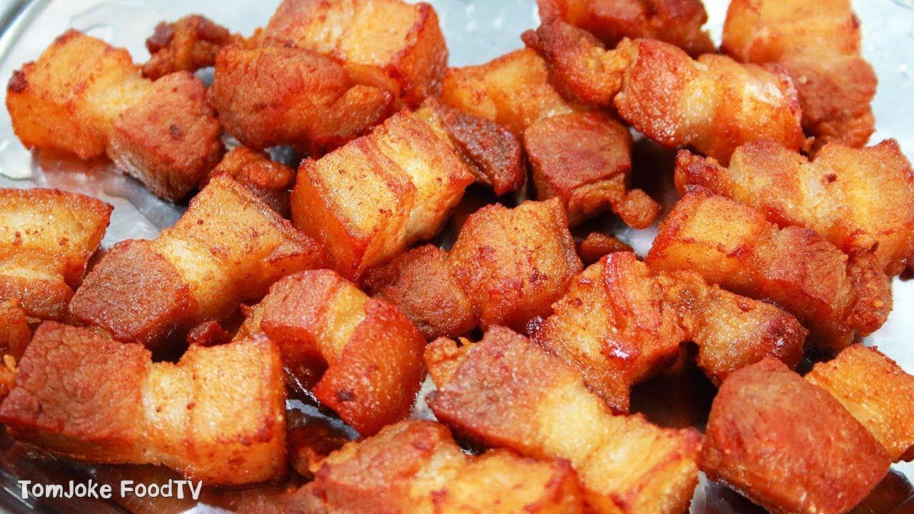 วิธีทำหมูสามชั้นทอดน้ำปลา สูตรที่แสนง่ายแต่อร่อยมากๆ Fried Pork