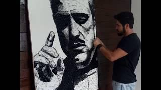 string art  - Don  Corleone