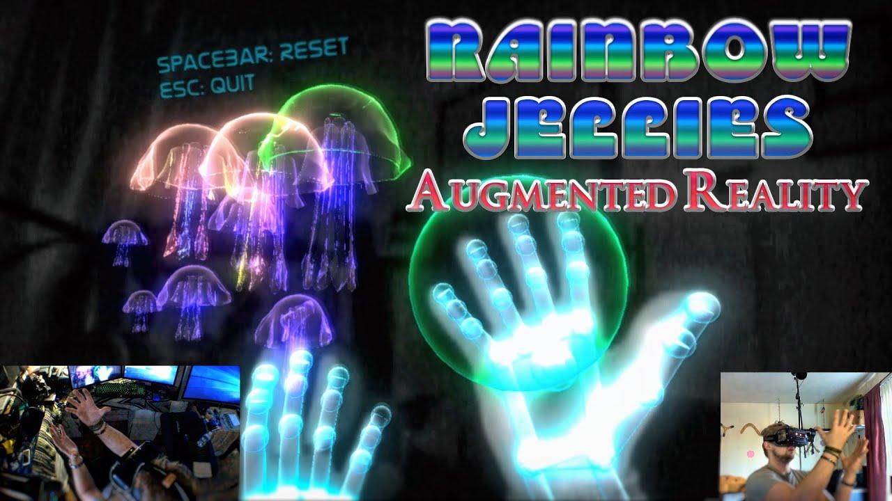 2dc9df26659 Augmented Reality  Rainbow Jellies - Oculus Rift DK2 + Leap Motion ...
