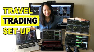 Best Travel Trading Set Up- Remote Day Trading Station