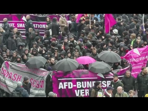 Right-wing German nationalists met with fierce resistance on streets of Cologne