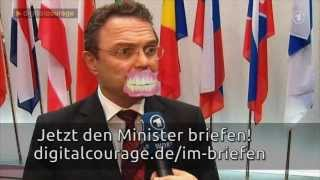 Innenminister Friedrich - Offener Brief - Mach dich stark für den Datenschutz