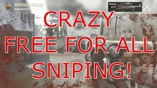 CRAZY FREE FOR ALL SNIPING!-CALLOFDUTYWWII