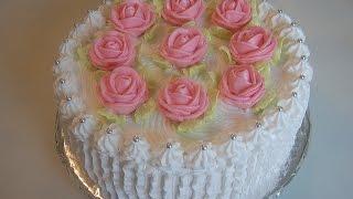 Торт и белковый заварной крем