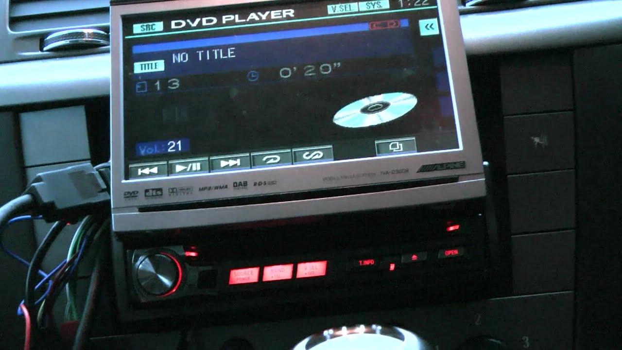 Alpine Iva D 900 R Ebay D100 Wiring Diagram D300r Mts Youtube