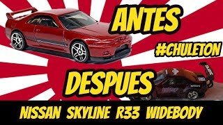 Nissan Skyline R33 widebody hot wheels custom | Custom Mexico