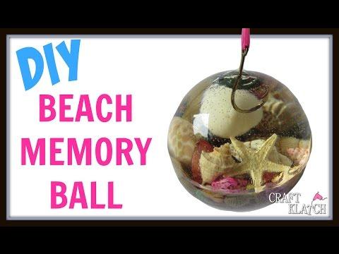 DIY Vacation Beach Memory Ball ~ Craft Klatch How To