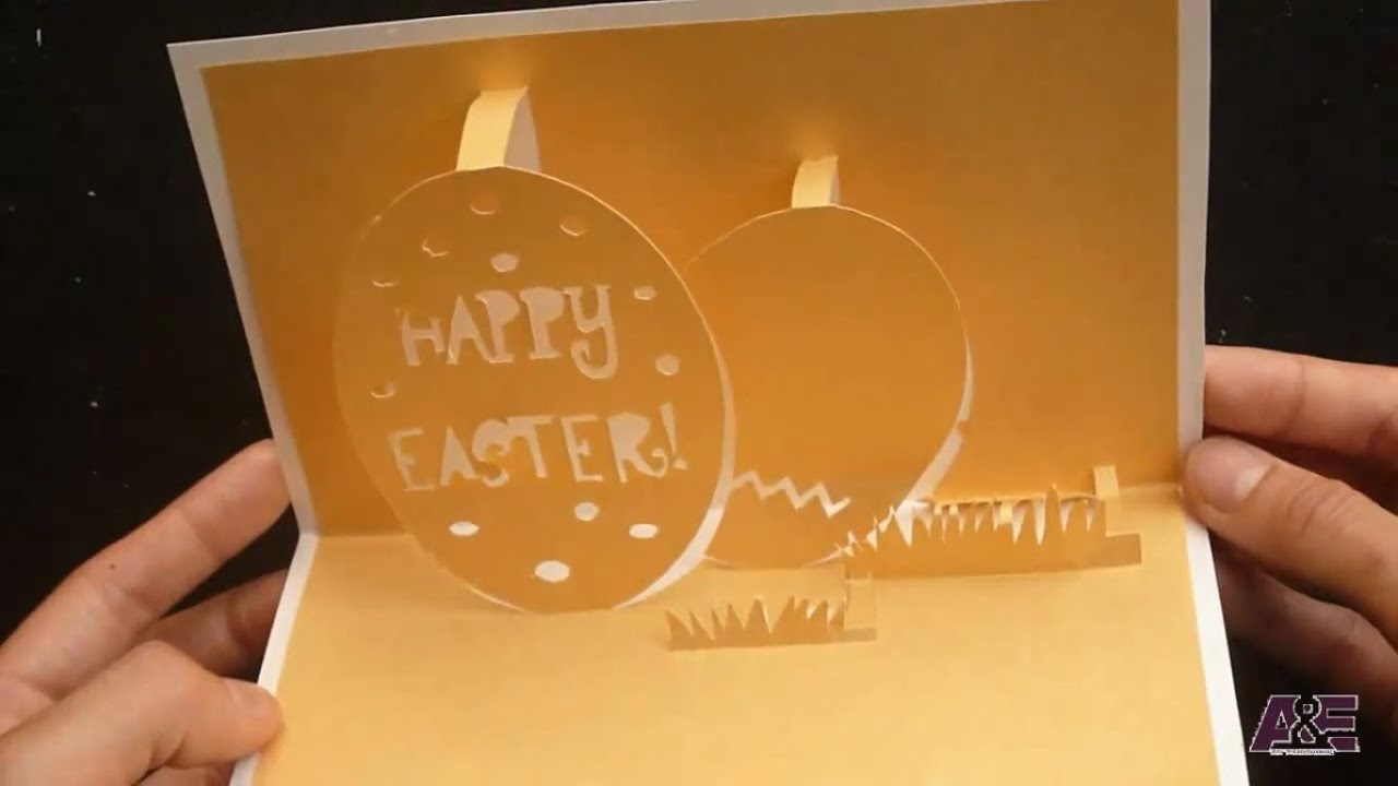 How To Make Happy Easters PopUp Card Tutorial Template 1 of 2 – Easter Pop Up Cards