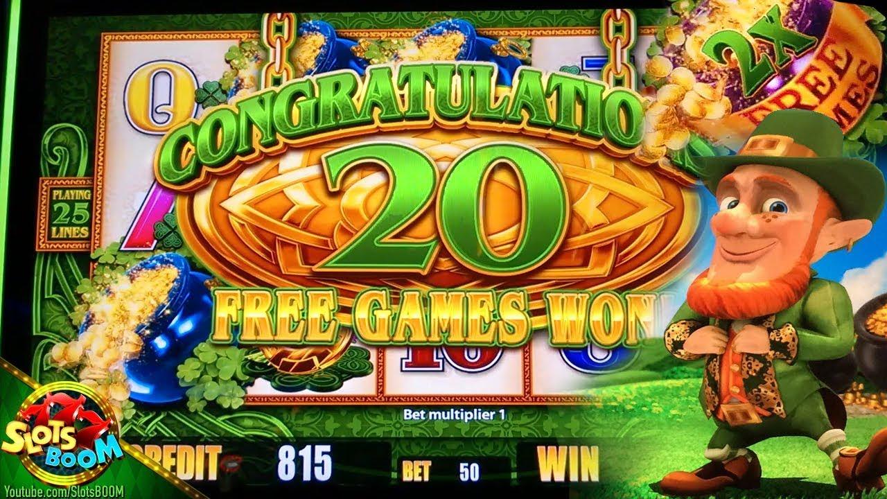 Happy St. Patrick's Day !!! Wild Lepre' Coins BONUSES!!! in San Manuel  Casino on 2c Aristocrat Slot - YouTube
