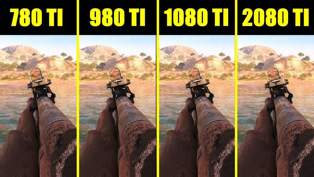 Battlefield 5 RTX 2080 TI Vs GTX 1080 TI Vs GTX 980 TI Vs GTX 780 TI Frame  Rate Comparison