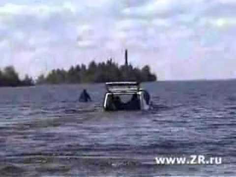 Видео прикол: Грандиозный фейерверк на озере