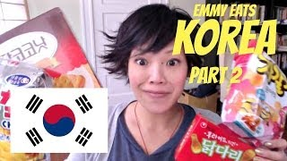 Emmy Eats Korea Part 2 | Tasting More Korean Snacks & Sweets
