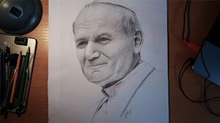 Portrait drawing - St. Pope John Paul II/Jan Paweł II
