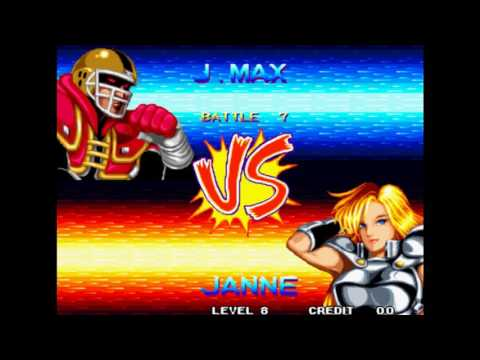 World Heroes 2 Lev 8 Johnny Maximum (Joe Montana ) No Lose Playthrough
