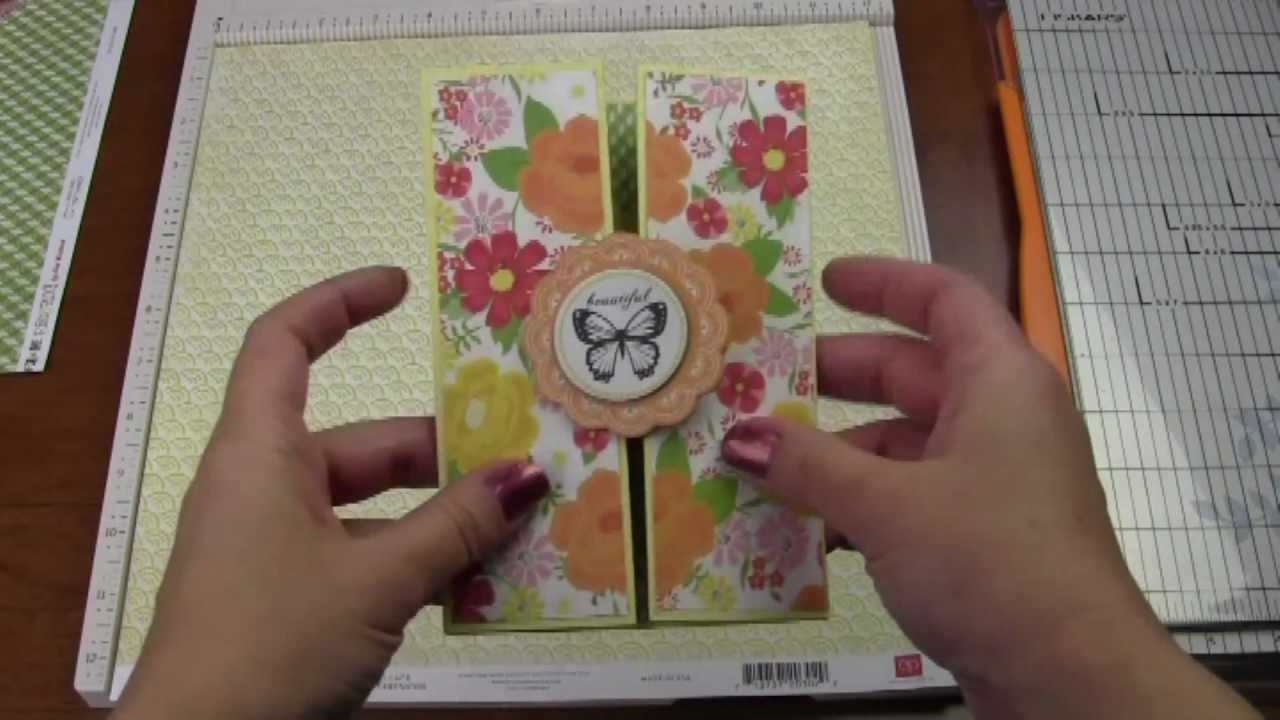 How to Make a Double Accordion Gatefold Card - YouTube
