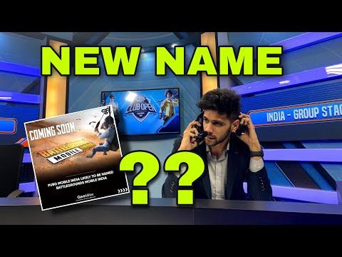 BATTLEGROUNDS MOBILE INDIA(PUBG) - new name???