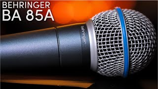 Behringer BA 85a Dynamic Super Cardioid Microphone Review / Test