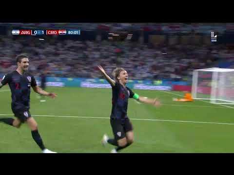 Segundo gol de Croacia   Argentina vs Croacia