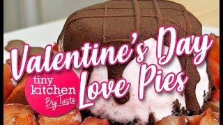 Valentine's Day Mini Ice Cream Love Pies // Tiny Kitchen Big Taste