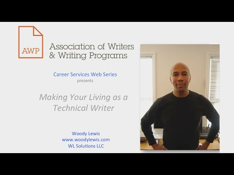 Making Your Living as a Technical Writer AWP Career Services Web Series