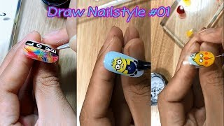 Learn to play nice nails Part 1 | រៀនគូរក្រចកម៉ូដស្អាតៗវគ្គទី១