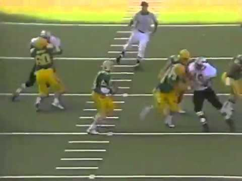 Oregon QB Bill Musgrave hits WR Tony Hargain for a first down vs. OSU 1989