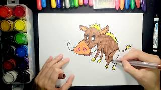 How to draw a wild boar【Ginger