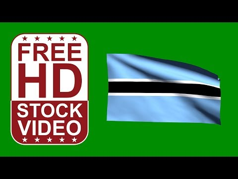 FREE HD video backgrounds – Botswana flag waving on green screen 3D animation