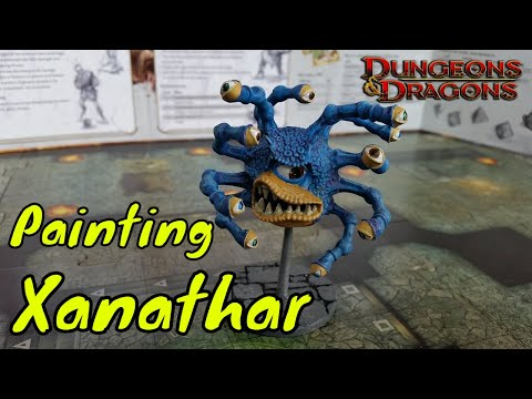 Painting Xanathar Beholder Miniature (Gale Force 9) & Chat, Part 4