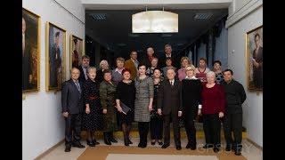 Предновогодняя встреча ректора университета с ветеранами труда ГрГУ имени Янки Купалы