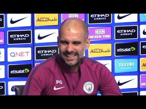 Pep Guardiola Pre-Match Press Conference - Manchester City v Burnley - Embargo Extras
