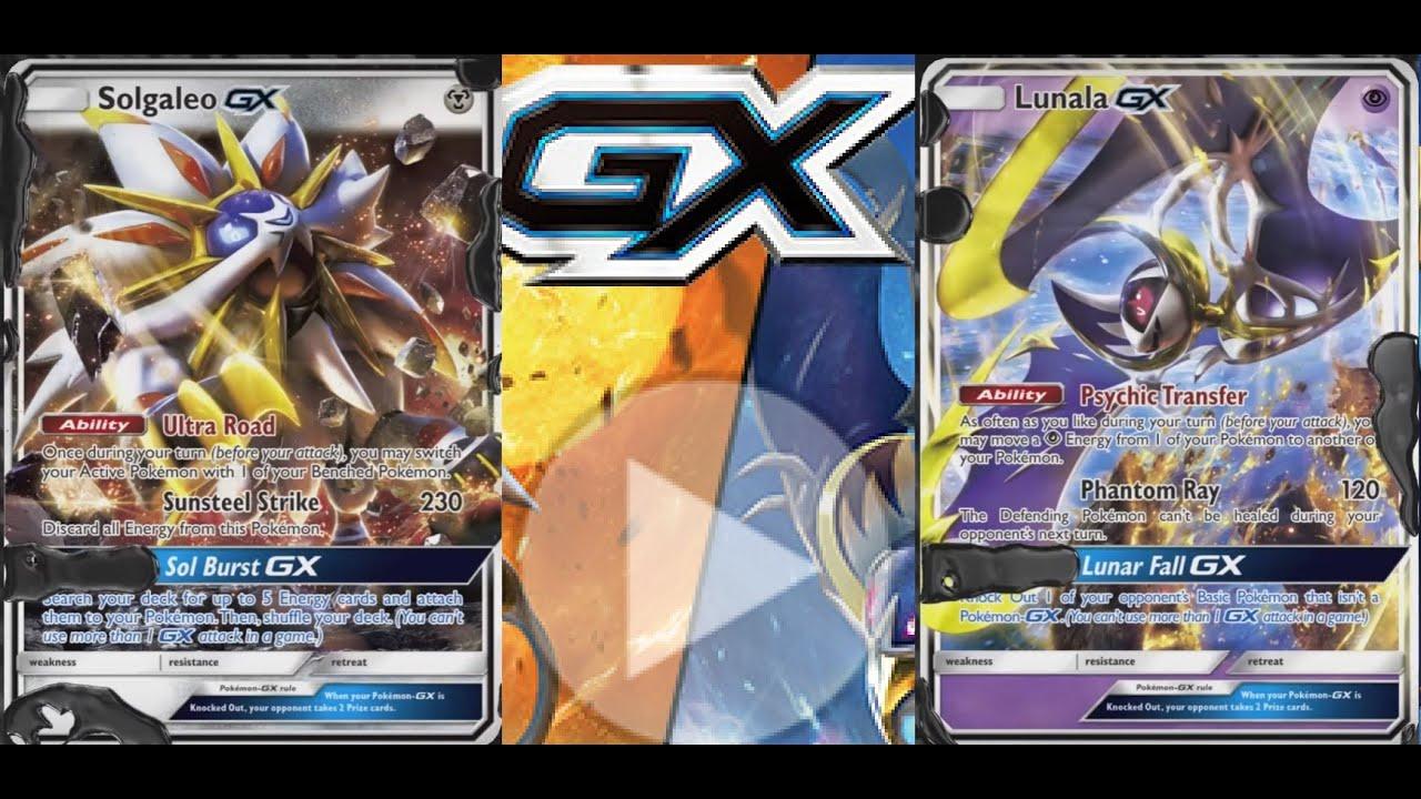 solgaleo gx  lunala gx pokemon cards mechanics