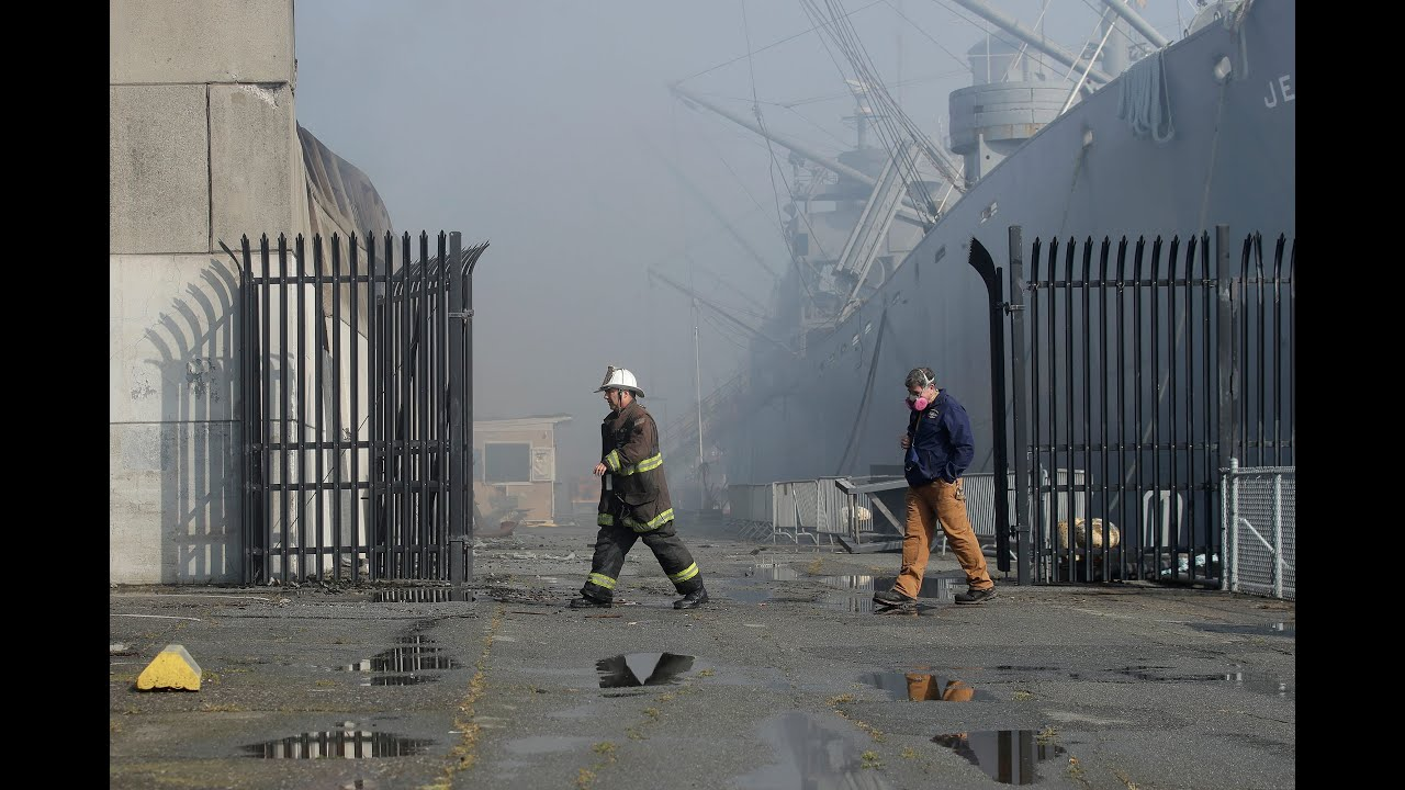 'Fire everywhere': More than 130 firefighters battle Pier 45 blaze in ...