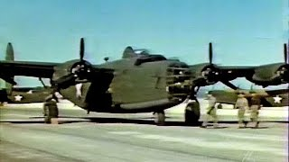Flying the Consolidated B-24 Liberator Bomber in Restored Color (1943)