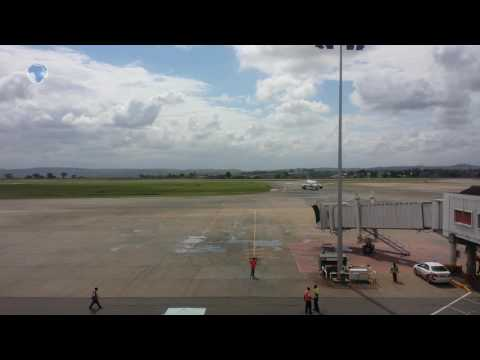 Passengers stranded at Moi International Airport after temporary closure of the runway
