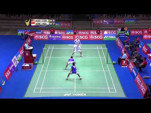 SCG Thailand Open 2015 | Badminton SF M2-MD | Koo/Tan vs Pra/Suw