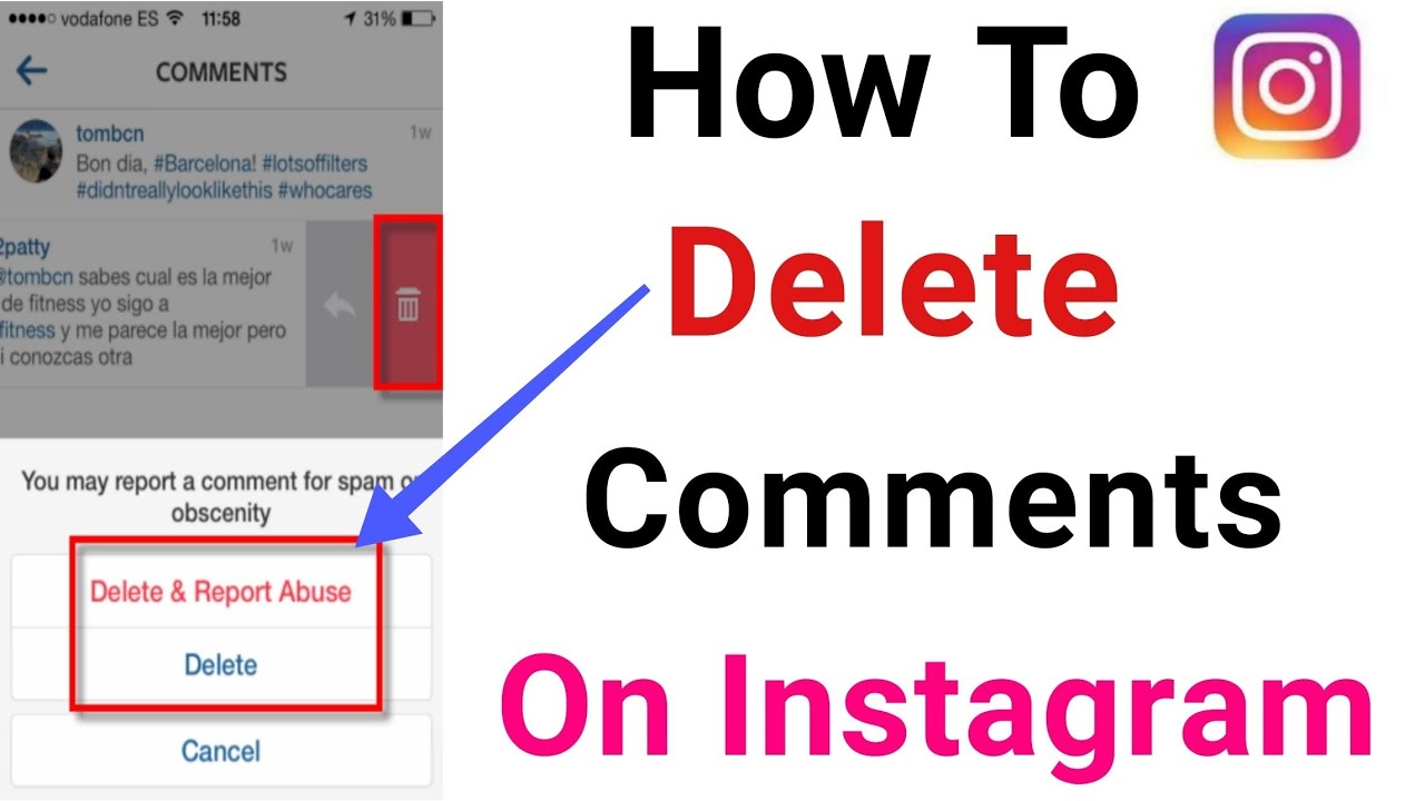 How to delete a reported comment on instagram