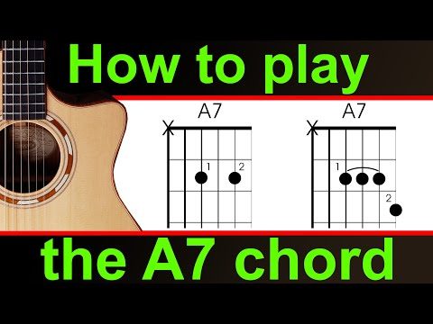 How To Play The A Dominant Seven A7 Beginners Guitar Lesson