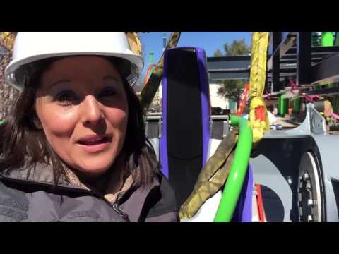 Six Flags New England The Joker 4D Free Fly Coaster