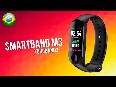 REVIEW SMARTBAND M3 - MUITO BARATA!