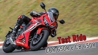 TEST RIDE HONDA CBR 650R E CB 650R - COMPLETO - Durvalcareca