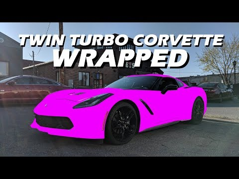 Twin Turbo C7 Corvette Gets Wrapped…
