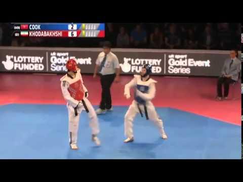 Watch amazing TKD athletes in action: Aaron Cook Vs. Mahdi Khodabakhshi