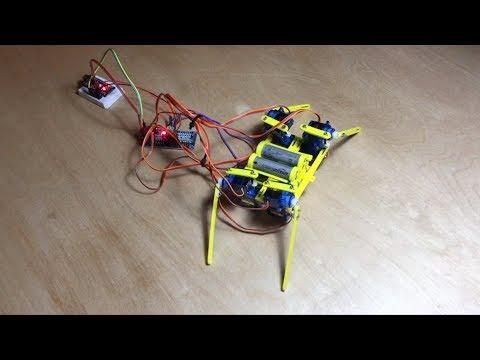 Spiduino - Neural Network Arduino Walking Robot