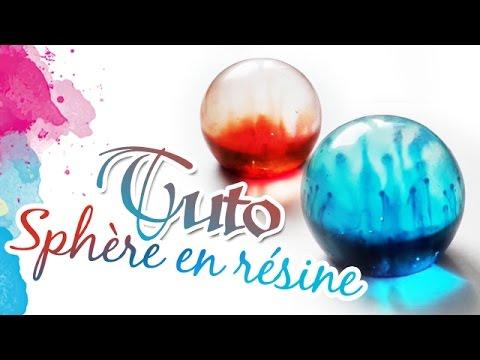 TUTO FIMO: Sphère en résine - polymer tutorial resin sphere