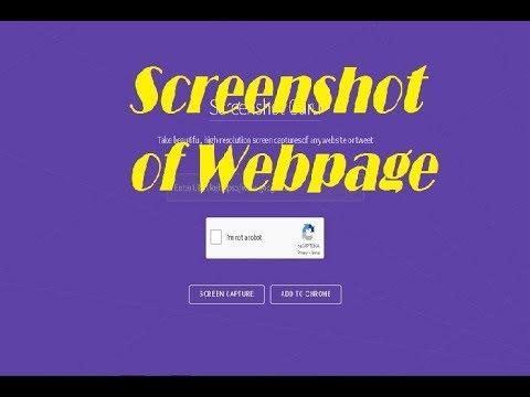 Take High Resolution Screenshot Of Any Webpage @USNMix