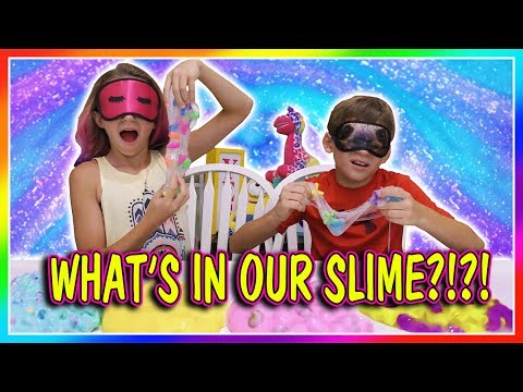 WHAT'S IN OUR SLIME CHALLENGE  We Are The Davises