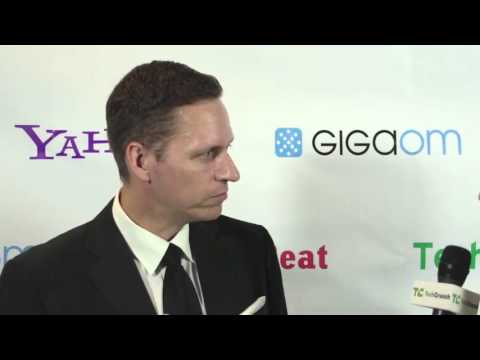 VC of the Year Peter Thiel, Backstage Interview   TechCrunch 2012 Crunchies