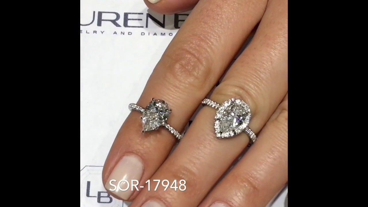 95e7ae8f4 Pear Shape Engagement Ring Designs - YouTube